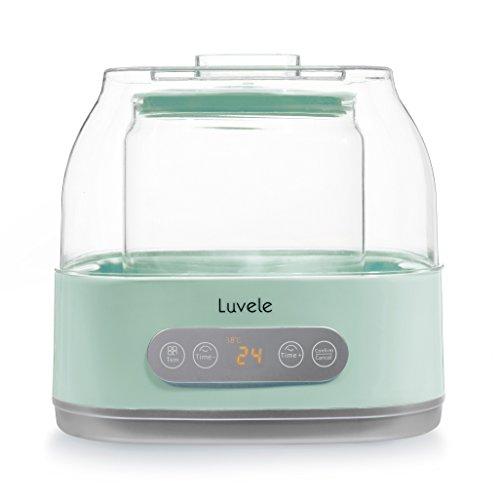 Yogurtiera Luvele Pure Plus con contenitore in vetro da 2 litri per regime dietetico SCD e Gaps