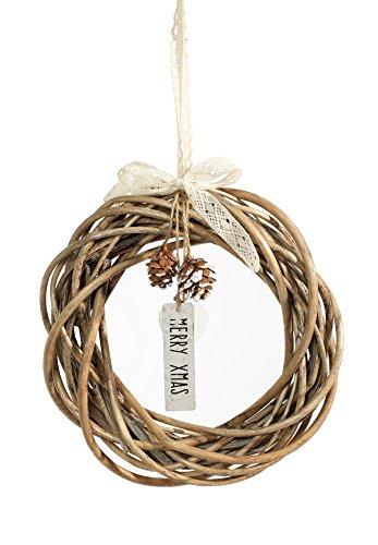Heitmann DECO dekorierter Weihnachts-Kranz - Weidenkranz- Deko-Kranz aus Naturmaterialien - Weihnachtsdeko - Merry Xmas