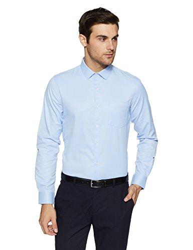 Excalibur EX Men's Solid Regular Fit Formal Shirt (276432605 Blue 40 FS)