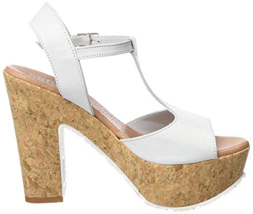 SHOOT - Shoot Shoes Sh-160170vv Damen Sommer High Heels Plateau Sandale, Sandali con platea Donna Bianco (Bianco)