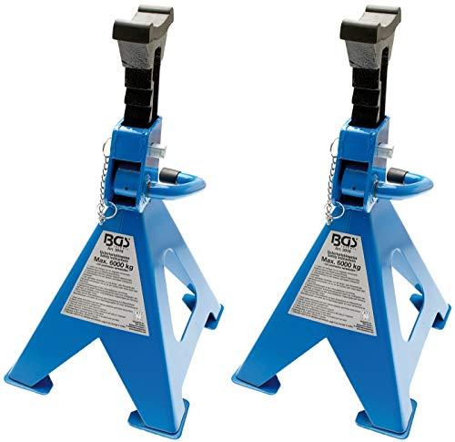 BGS 3016 | Unterstellböcke | Traglast 6000 kg / Paar | Hub 420 - 600 mm | 1 Paar | verstellbar | inkl. Gummiauflage