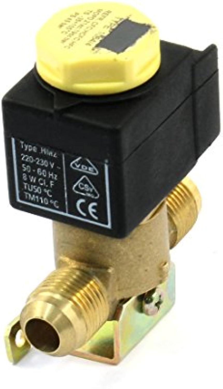 19mm Rosca 2 puertos del acondicionador de aire de la válvula electromagnética