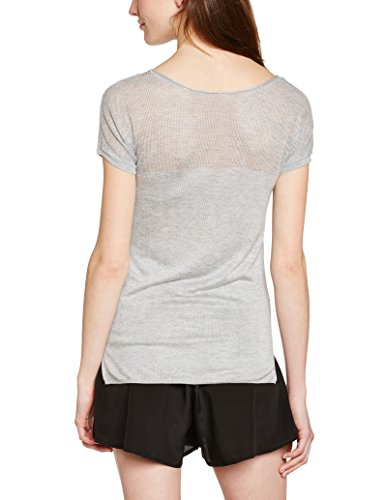 NAF NAF Damen T-Shirt, Maestra 4 MC Grau (Grey Mélange)