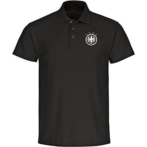 Poloshirt Deutschland Adler Retro Trikot Herren schwarz, gebraucht gebraucht kaufen  Wird an jeden Ort in Deutschland