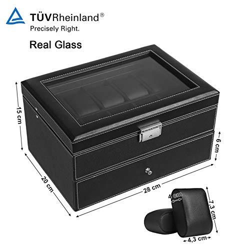 Dioche con protecci/ón antipolvo para 18 cajas multifuncionales para gafas 47 x 37 x 6 cm Caja para guardar gafas