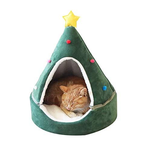 FuYouTa Árbol Navidad Cat House Cama Gatos Casa Gatos