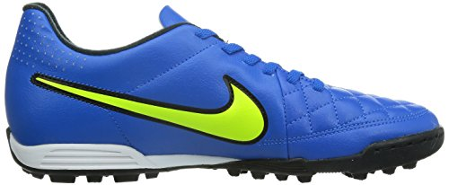 Nike  Tiempo Rio II TF, Chaussures de football homme Multicolore - blue/solarvolt/black