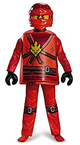 Lego Costume, Kids Ninjago Kai Deluxe Outfit, Small, Age 4