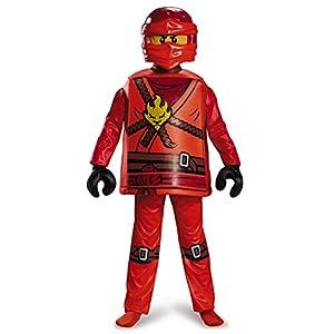 Lego Costume da Ninjago Kai, per Bambini, Taglia S, Gamma Deluxe, età 4–6Anni, Altezza ca. 120 cm -125 cm 12 spesavip