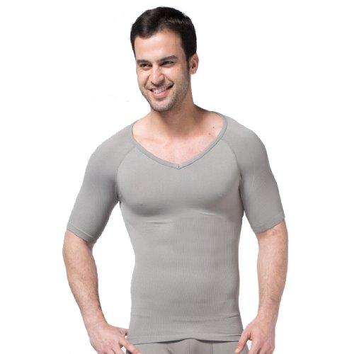 ZEROBODYS Magliette da uomo Comodo Compressione scollo