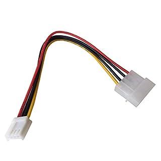 Q02 TOP! 20cm Floppy FDD Strom Adapter 4 Pin Molex Stecker auf 4 Pin Floppy Strom Power Buchse, 4 Pin Molex Stecker auf 4 Pin Floppy Strom Power Buchse, Plug und Play, 4-poliger Molexstecker 5,25