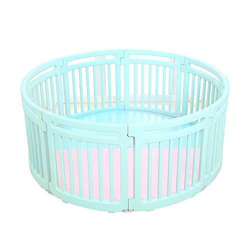 LLAAYY Bettgitter Laufgitter Laufstall, 12-Panel-Baby-Laufstall Sicherheit Spielcenter Tragbare Spielplatz Zaun Kindersicherheit Laufstall Für Baby für Kinder (Color : Green) (Puerta Para Bebe)