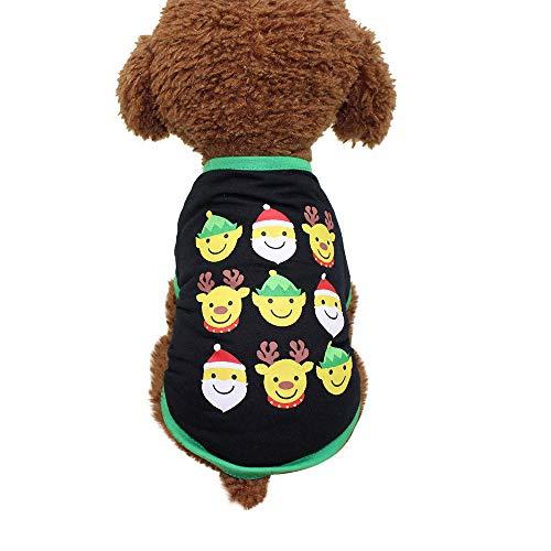 Upxiang Weihnachten Welpen Hund T-Shirt Haustier Kleidung Welpen Cosplay Kostüm Santa's Little Helfer Hund Pullover Kleidung Weihnachten T-Shirt