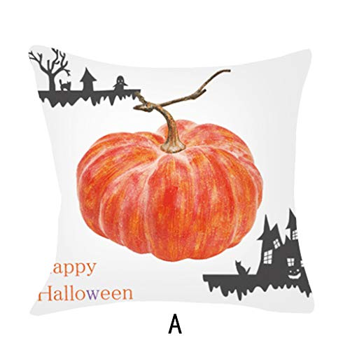 pkin Throw Pillow Cover Pillowcases Decorative Sofa Cushion Cover Fledermäuse Plus Cartoon-Kinderavatare schwarz ()