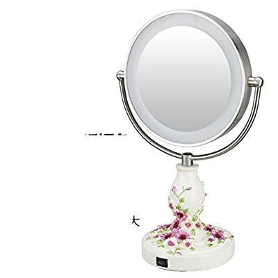 9ZollLEDSpiegel/ beleuchtete Spiegel/Gro?e doppelseitige Desktop Doppelspiegel/ Hochzeit Sch?nheit Spieglein