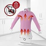 CLEANmaxx automatischer Hemdenbügler | Bügler für Hemden & Blusen, Bügelautomat | Bügelpuppe für Hemden und Blusen | Bügelhilfe für Hemden und Blusenbügler, Weiß