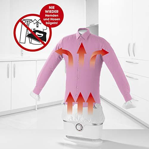 Automatischer Bügler für Hemden und Blusen, Bügelpuppe (Trocknet und bügelt Kleidung automatisch in einem Schritt) (Bügler ohne Hosenaufsatz)