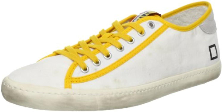 D.a.t.e. Date Sneakers Herren 44 EU Weiß Gelb Textil