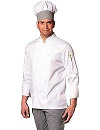 Fratelliditalia Completo bianco da cuoco giacca e pantalone da cucina sale e  pepe con cappello b2963ae5d56c