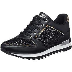 Mariamare 62345, Zapatillas para Mujer, (Lotus Glitter Leo Velvet Leopardo/Lamina Espejo Plata/Charol Negro C43768), 39 EU