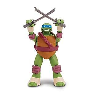 Giochi Preziosi - Turtles Head Dropping Leonardo Personaggio, con Testa a Molla