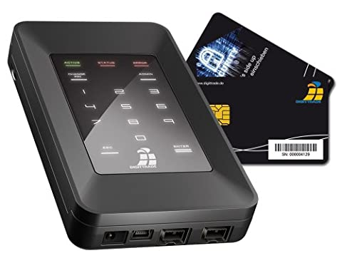 Digittrade HS256 1TB SSD Externe Festplatte (6,35 cm (2,5 Zoll) USB 2.0) mit 256-Bit AES Hardware-Verschlüsselung, Smartcard und PIN schwarz