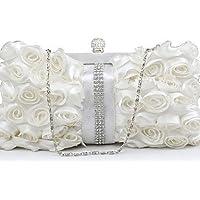 Lemon&T borsa da sera diamanti fiori fatti a mano delle donne l.west , black