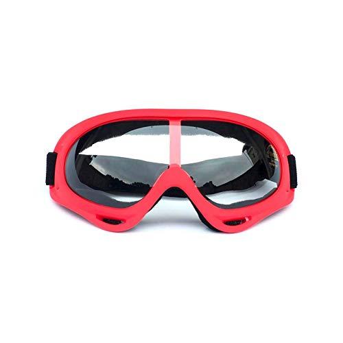 Aeici Sportbrille TPU+PC Skibrille Polarisiert Damen Sportbrille für Brillenträger Rot Transparent