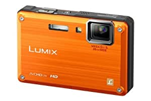 Panasonic DMC-FT1EG-D Digitalkamera (12 Megapixel, 4-fach opt. Zoom, 6,9 cm (2,7 Zoll) Display, Bildstabilisator, bis 3m wasserdicht) orange