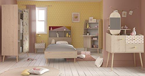 Wohnorama Kinderzimmer-Set 5-tlg inkl Schminktisch Anna 1 von Parisot Eiche Brooklyn by (Eiche Schminktisch-set)
