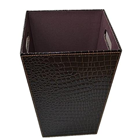 Trash cans Household leather trash cans Material Leather Size 24.5 * 18.35cm Square Trash Garbage Collection