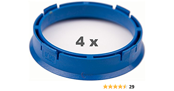 4 X Zentrierringe 66 6 Mm Auf 57 1 Mm Blau Für Fahrzeuge Mit Radnabendurchmesser Von 57 1 Mm Auto