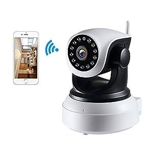 NexGadget IP Kamera HD 720P WiFi ¨¹berwachungskamera, P2P, Sicherheitskamera mit 2-Wege Audio Kanal, Videoaufzeichnung und Ger?uscherkennung, Bewegungserkennung horizontal / vertikal