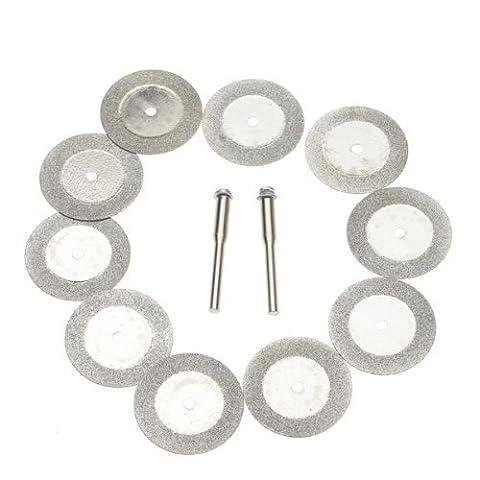 Haahaha durable dans l'utilisation durable Service env. 10pcs 30mm Diamant Cut Off Disc Roue Outil