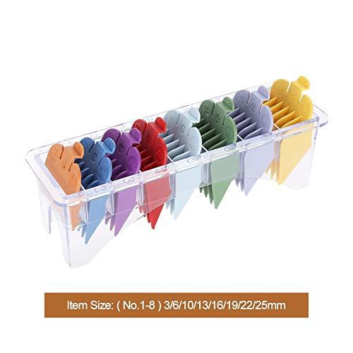 8 Größen Guide Kammset Rainbow Color Clipper Ersatzteile Haarschnittzubehör (Guide Größe)