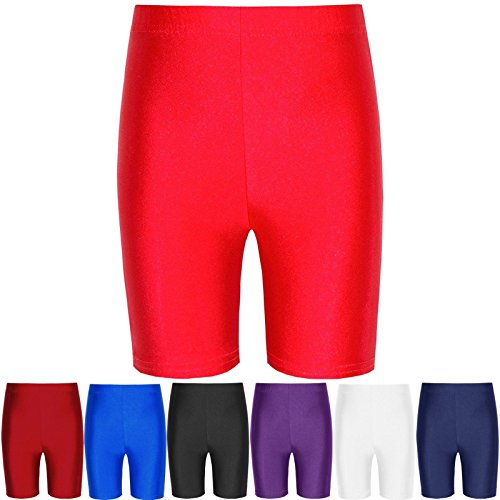 Papaval Girls Boys Cotton Lycra Cycling Shorts Kids Children's School Gym Dance Shorts
