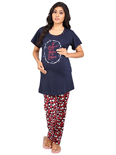 Vixenwrap Blue & Red Floral Print Maternity Suit
