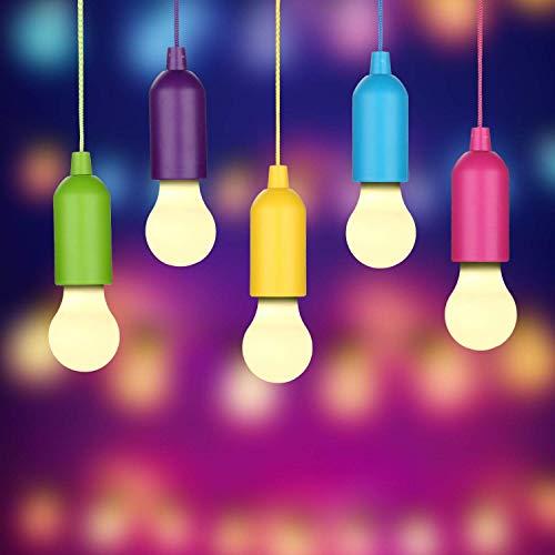 Led Campinglampe Lampe Batteriebetrieben 8 ST/ÜCKE Verschiedene Farben LED Zugschnur Dekorative H/ängeleuchte F/ür Garten Party Kleiderschrank Schrank BBQ Wandern Angeln Warmes Wei/ßes Licht
