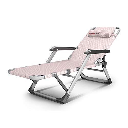 Deckchairs Liegestühle Oversize Folding Beach Recliner, Heavy Duty People Lounge Chair Liegen faltbar, rosa Schwerelosigkeit Stühle für Strand/Terrasse, Unterstützung 440 Pfund