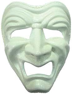 Triste Masque Déguisement En Blanc