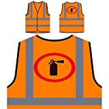 Nicht erlaubt Zeichen lustige Vintage cal Feuerwehr Personalisierte High Visibility Orange Sicherheitsjacke Weste c640vo