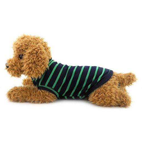 ranphy Kleiner Hund/Katze Kleidung Baumwolle Weste T-shirt schwarzen Streifen Doggy Shirts Chihuahua Apparel Pet Kostüm