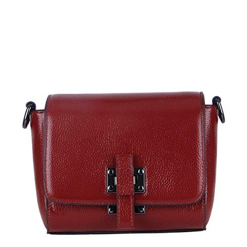 Pelle Delle Donne Faux Borse Messenger Bag Borse Delle Signore Multicolore Red
