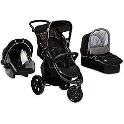 Hauck Viper SLX Trioset - Sistema de viaje con bañera para bebé, Zero Plus, color caviar y gris
