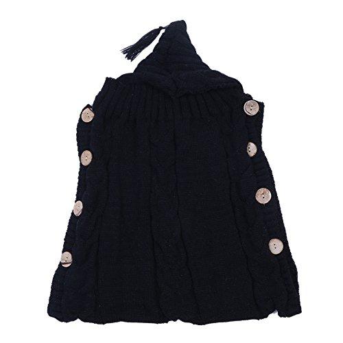 everpert Holz Button Quaste Cap Pullover Kleinkinder Neugeborene Baby Wrap Wickeldecke