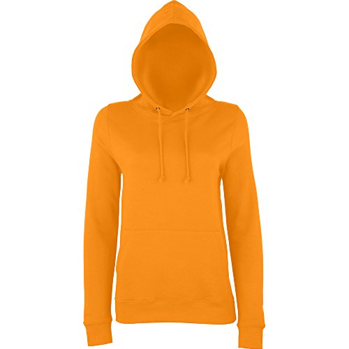 Awdis Hoods Ladies Girlie College Hoodie Turquoise Orange Crush