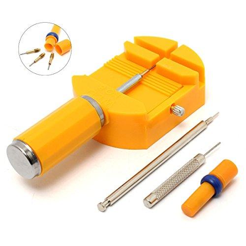Baban Uhr Stiftausdrücker Armbandkürzer Stiftaustreiber Uhrenwerkzeug gelb + 3 Stifte