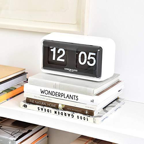 Reloj de Londres Bosker Blanco Mantel, 14 x 26 x 9,5 cm
