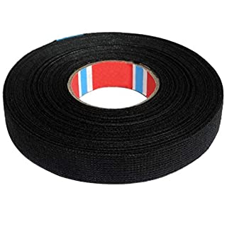 AERZETIX: 25 m 15 mm 250μm Adhesive Fabric Tape for Pet Frettage Assembly Cable Harness C41260