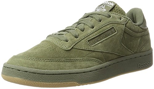 Reebok Herren Club C 85 SG Gymnastikschuhe, Grün (Hunter Green/White-Gum), 41 EU (Running Pack Reebok)